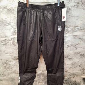 K Swiss Women's Black  Afterglow Track Pants Size